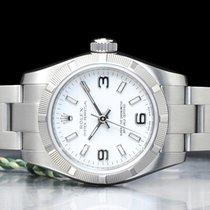 Rolex Oyster Perpetual 26 Acero 26mm Blanco Arábigos