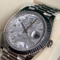 Rolex Day-Date 40 White gold 40mm Grey No numerals
