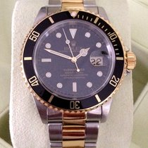 Rolex Oyster Submariner Gold Steel Black Dial 40 mm