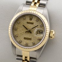 Rolex LADY DATEJUST DIAMANT EDELSTAHL 18K GOLD GELBGOLD DAMENUHR