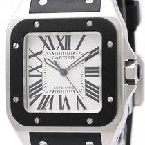 까르띠에 (Cartier) Santos 100 Steel Rubber Automatic Mens Watch...