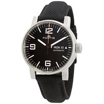 Fortis Spacematic Automatic Black Dial Mens Watch 623.10.18.LP.10