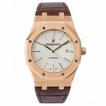 Audemars Piguet Royal Oak Selfwinding Rose gold 41mm Silver No numerals