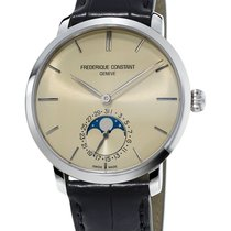 Frederique Constant Manufacture Slimline Moonphase Staal 42mm