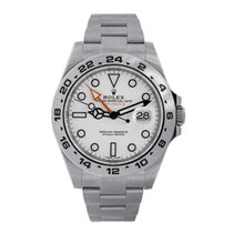 Rolex EXPLORER II 2 Stainless Steel White Dial Watch 216570