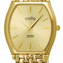 Condor Yellow gold 31mm Quartz GS21004 new