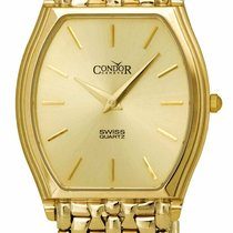 Condor Yellow gold 31mm Quartz GS21004 new