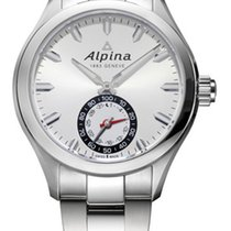 Alpina Horological Smartwatch AL-285S5AQ6B Νέα Ατσάλι 44mm Χαλαζίας