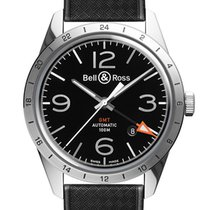 Bell & Ross Steel 42mm Automatic BRV123-BL-GMT/SRB new