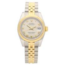 Rolex Lady-Datejust Zlato/Zeljezo 26mm Boja šampanjca Rimski brojevi