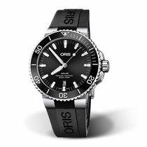 Oris Aquis Date Steel 43.5mm Black No numerals