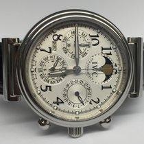 IWC Da Vinci Perpetual Calendar gebraucht 42mm Weiß Mondphase Chronograph Datum Monatsanzeige Jahresanzeige Ewiger Kalender Leder