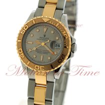 Rolex Yacht-Master pre-owned 29mm Grey Date Gold/Steel