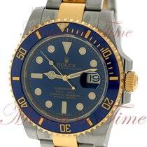 Rolex Submariner, Royal Blue Dial, Blue Ceramic Bezel - Yellow...