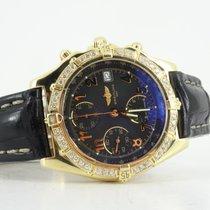 Breitling 18k Chronomat diamond bezel