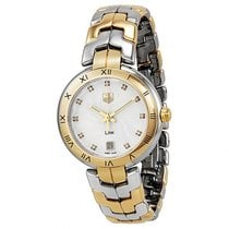 TAG Heuer Link Lady Steel 34mm White No numerals United States of America, New Jersey, Tuckerton