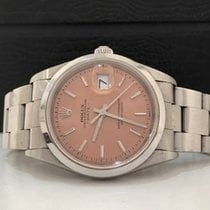 Rolex Oyster Perpetual Date 34mm Mostrador Rosa Completo...