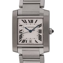 Cartier : Tank Francaise :  W51002Q3 :  Stainless Steel