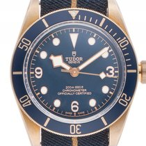 Tudor Heritage Black Bay Bronze Blue Bucherer Edition Stahl...
