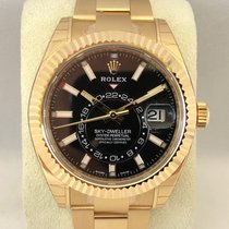 Rolex Yellow gold Automatic Black 42mm new Sky-Dweller