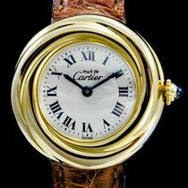 까르띠에 은 쿼츠 흰색 로마숫자 26mm 중고시계 트리니티