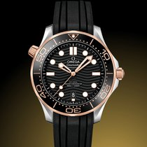 Omega 210.22.42.20.01.002 Goud/Staal 2019 Seamaster Diver 300 M 42mm nieuw