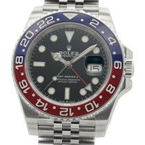 Rolex GMT-Master II Pepsi Red & Blue Bezel Stainless Steel...