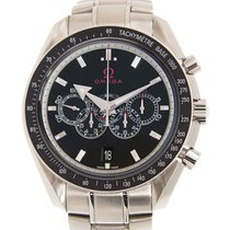 Omega Speedmaster Broad Arrow Acero 44.2mm Negro