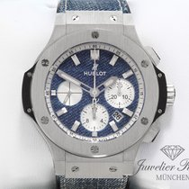 Hublot Big Bang Jeans pre-owned 44mm Blue Chronograph Date Fold clasp
