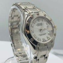 Rolex Witgoud Automatisch 29mm tweedehands Lady-Datejust Pearlmaster