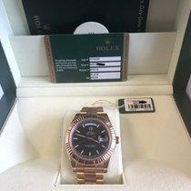 Rolex Day-Date II Pозовое золото 41mm Чёрный Римские