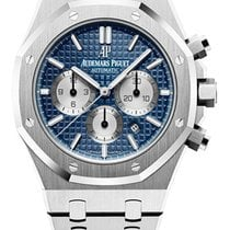 Audemars Piguet Royal Oak Chronograph pre-owned 41mm Blue Chronograph Steel