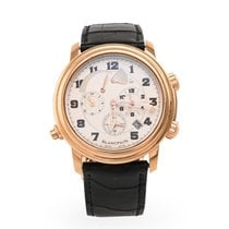 Blancpain Léman Réveil GMT Rose gold 40mm Silver United States of America, Texas, Dallas