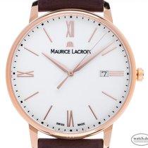 Maurice Lacroix Roségold Quarz Weiß Römisch 40mm neu Eliros
