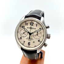 Bell & Ross Vintage occasion Blanc Chronographe Date Cuir
