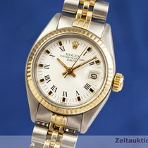 Rolex Lady-Datejust Or/Acier 26mm Blanc