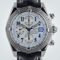 Breitling Chronomat Evolution,  Stainless Steel, Leather Band,...