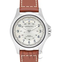 Hamilton Khaki Field King Auto Grey Steel/Leather 40mm -...