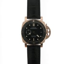 Panerai Rose gold Automatic Black No numerals 42mm new Luminor Submersible 1950 3 Days Automatic