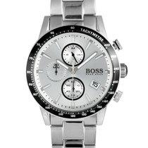 Hugo Boss Chronograph 44mm Quarz neu Silber
