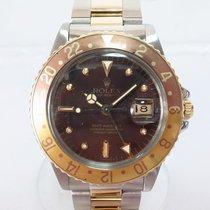ロレックスGMT マスター・中古・正規のボックスなし、正規の書類なし・40 mm・ゴールド/スチール