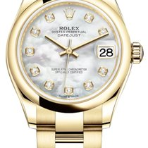 Rolex Yellow gold Automatic Mother of pearl 31mm new Datejust