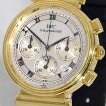 IWC Da Vinci Chronograph Oro amarillo 32mm Plata Romanos