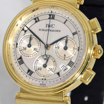 IWC Da Vinci Chronograph Aur galben 32mm Argint Roman