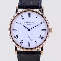 Patek Philippe Calatrava Rose gold 36mm White No numerals