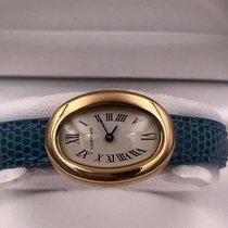 Cartier Baignoire Or jaune 25mm Blanc Romain