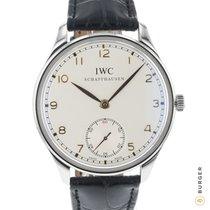 IWC Portuguese Hand-Wound Steel 44mm Silver Arabic numerals