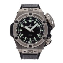 Hublot King Power pre-owned 48mm Black Date Rubber