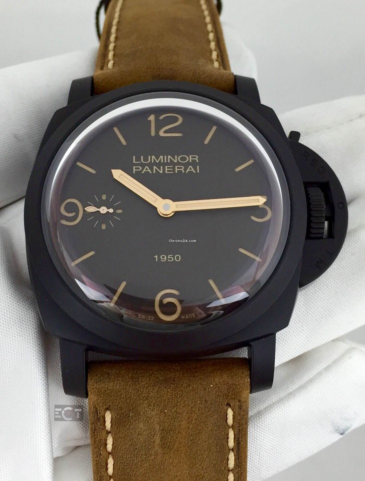 panerai replica swiss luminor steel vs dial black stainless pam marina watches