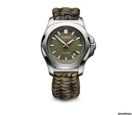 Victorinox Swiss Army I N O X  green dial and paracord    for